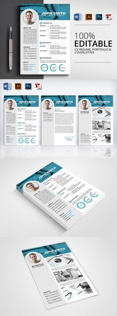 Free MsWord Resume and CV Template Collateral Design - free cover page templates for word