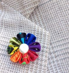 Custom Lapel Pins Mens Lapel Pin Flower Lapel Pin Rainbow Boutonniere Rainbow Lapel Flower Wedding Boyfriend Gift For Him Kanzashi Brooch by exquisitelapel on Etsy https://www.etsy.com/listing/512612222/custom-lapel-pins-mens-lapel-pin-flower