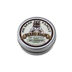 """Die Bartpomade """"Wilderness"""" von Mr. Bear Familiy, bringt deinen Bart in Form und hilft dir ihn zu stylen. #bartpomade #blackbeards #bartpflege Zusätzlich verleiht der angenehme Duft einen sanften Hauch von mediterraner Wildnis. :-{)"""
