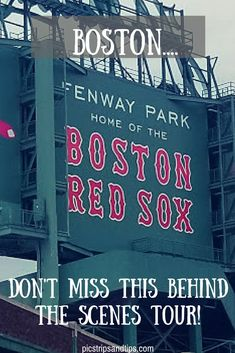 Fenway Park offers a fun and interesting tour of the park. Fenway Park, In Boston, Boston Red Sox, Boston Strong, Boston Travel Guide, Voyage Usa, Boston Vacation, Baseball Quotes, Yadier Molina
