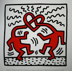 Keith Haring : Untitled 1989 (Heart)