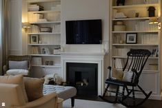 New England Style, Inspiration, Interior, Home Office, House, Tv Room, Home Decor, Room, Fireplace