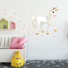 Nálepky na stenu - hviezdičky a oblaky | INSPIO Decals, Kids Rugs, Design, Home Decor, Pink, Kids Room Wall Decals, Tags, Decoration Home, Kid Friendly Rugs