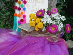 How to DIY a Bohemian Gypsy Themed Party with a Cricut Colorful Flowers, Beautiful Flowers, Bohemian Party Decorations, Hanging Pom Poms, Used Coffee Tables, Green Cups, Romantic Dinners, Glitter Vinyl, Bohemian Gypsy