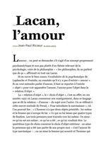 Lacan, l'amour par J.P Ricoeur ( fr - angl )
