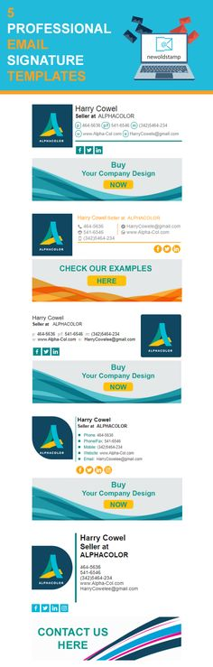 5 Professional Email Signature Templates
