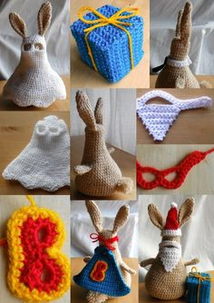 dress-up bunny costumes--I may have to start crocheting!