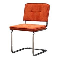 Goedkope Rib stoel Lola Oranje - Eetkamerstoelen - Stoelen | Design meubelen en de laatste woontrends