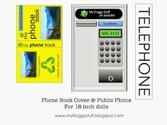 My froggy stuff printables   My Froggy Stuff: Telephone Booth and Phone Book for Dolls