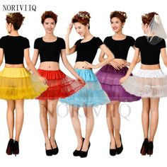 2 Layers Short Mini Tulle Skirt Underskirt Slips Crinoline Petticoat Halloween