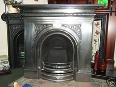 Gallery Pembroke Full Polished Cast Iron Fireplace Cast Iron Fireplace, Wood Stoves, Fireplace Ideas, Fireplaces, Home Interior Design, Lounge, Gallery, Home Decor, Wood Burning Stoves