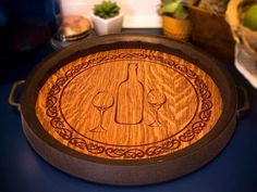 13 Genius Ways People Are Repurposing Whiskey & Wine Barrels - How to Use Barrels As Decor Lazy Susan, Wolf Den, Wine Barrels, Diy Crafts, Repurposing, Whiskey, People, Decor, Whisky