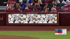Hahaha poor little cubbies can't see the ball