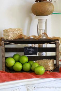 Decorative Rustic Fall Crate