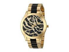 Grab one now before it's gone --> Michael Kors Womens Watch Swarovski Slim RUNWAY Gold & Zebra & Black MK3315 #MichaelKors #Dress #animal pattern #Zebra $179.77