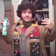 Pin for Later: 26 Wonderful Doctor Who Costume Ideas For Whovians Four Curly hair is one of the Fourth Doctor's most distinctive features.  Source: Instagram user allonsy_vulpes