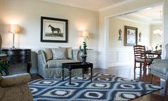 The living room of the Arlington II Expanded floor plan by Ball Homes.