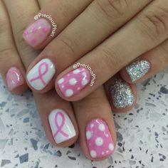 BREAST CANCER AWARENESS by preciousphan #nail #nails #nailart