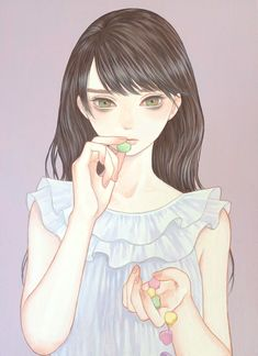 By Mayumi Konno Girl girly illustration drawing art beautiful art cute