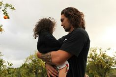 """""""Jason Momoa with his daughter Lola"""" Hot dads... are still hot."""