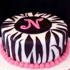 Zebra Stripes By dmich on CakeCentral.com