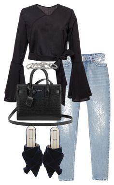 """Untitled #3852"" by theeuropeancloset on Polyvore featuring Monki and Yves Saint Laurent"