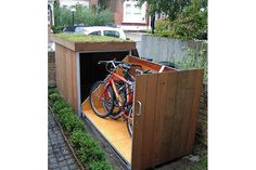 This person has got to be some sort of secret agent. The bike storage garden idea is genius!
