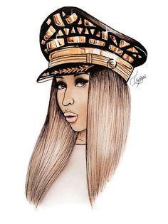 Nicki Minaj Black Plastic Case Cover Shell for iPhone Apple 4 5 SE 6 7 Plus Black Girl Art, Black Women Art, Black Art, Art Girl, Nicki Minaj Barbie, Nicki Manaj, Trill Art, Dope Cartoons, Celebrity Drawings