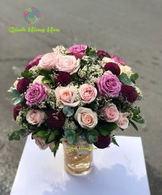 Hoa Sinh Nhật Glass Vase, Floral Wreath, Wreaths, Decor, Floral Crown, Decoration, Door Wreaths, Deco Mesh Wreaths, Decorating