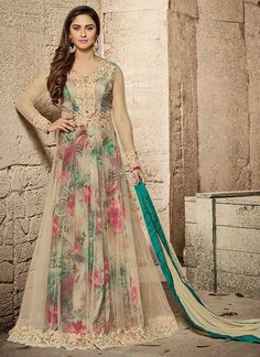 Buy salwar kameez online from an endless collection of designer salwar kameez online. Customization and worldwide free shipping. Celebrity net embroidered and patch border work anarkali suit.