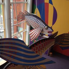 Fish sculptures Fish Sculpture, Sculptures, Children's Museum, Play Areas, Minnesota, Activities For Kids, Steampunk, Display, Image