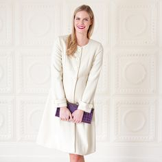 8fa4b1b6c91 JoJo Cream Princess Line Maternity Coat. Stunning coat to allow you to  elegantly wrap up in cold weather.