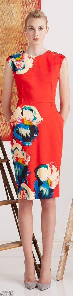 Lela Rose Pre-Fall 2015.. Print looks a little dated, but I think that if its styled right- it would look modern.