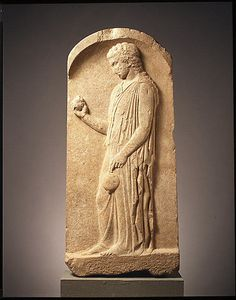Marble stele (grave marker) of a young girl  Period: Classical Date: ca. 440–425 B.C. Culture: Greek, Boeotian