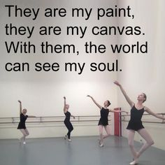 they are my paint, they are my canvas