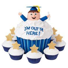 Wilton Ecstatic Graduate Cupcakes #graduation #graduate #cake