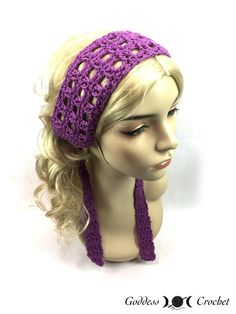 Crochet Headbands Hippie Headband – Free Crochet Pattern from Goddess )O( Crochet. Picot Crochet, Crochet Belt, Hippie Crochet, Free Crochet, Boho Crochet Patterns, Summer Headbands, Hippie Headbands, Boho Headband, Lace Headbands