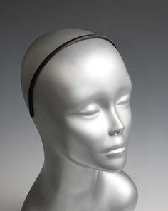 Skinny Black Satin Headbands