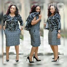 Ur Classic And Cute Corporate Turkey Gown for sale in Lagos Island Office Dresses For Women, Office Outfits Women, Stylish Work Outfits, Couples African Outfits, African Attire, African Dress, African Print Fashion, African Fashion Dresses, Corporate Fashion Plus Size