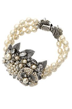 Love the vintage, classic go with jeans or dressy look!   MIRIAM HASKELL   Pearl Jewelry