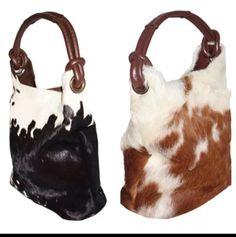 Cowhide purses