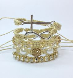 Kit bracelets shamballas cross infinity pulseira pulseiras shambala shambalas bracelet cross crucifixo macrame style lifestyle fashion moda pulseirismo