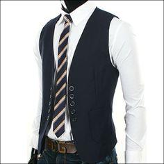 VE20 Korea Mens Vest Casual Double Five Button Slim Fit Dandy Fashion 3Color | eBay