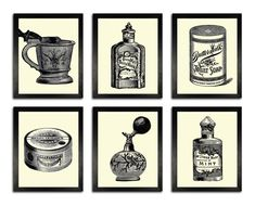 Wall Decor Sets medical patents set of 6 prints, medical poster, medical decor