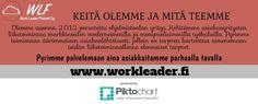 Olemme asiantuntija asiakasmediatalo myynti- tai sosiaalisen median asiantuntija. Tarjoamme sinulle täyden palvelun digitaalisen markkinoinnin. Tarjoamme myös Hakukoneoptimointi (SEO), SEM, SMM jne SEO käytetään tuottaa johtoon liikennettä verkkosivuilla. Sivustomme on http://workleader.fi/ saat odotamme työskennellä teille.
