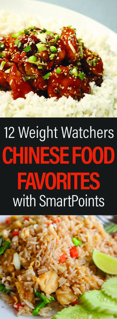 Healthy Weight 12 Weight Watchers Chinese Food Favorites with SmartPoints - Is greasy take-out your dieting downfall? Put down that phone and start whipping up fresh, delicious, and WW-friendly versions of your favorite Chinese dishes Ww Recipes, Light Recipes, Asian Recipes, Cooking Recipes, Healthy Recipes, Recipies, Bacon Recipes, Drink Recipes, Healthy Foods