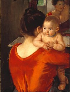 Woman in Red Bodice and her Child, 1901 // by Mary Cassatt