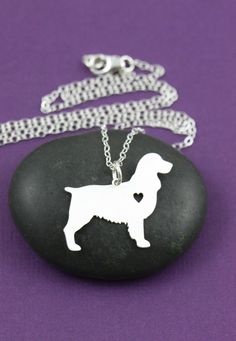 SALE  English Springer Spaniel Necklace  Custom Dog by IvyByDesign