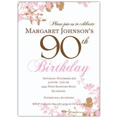 90th Birthday Invitation Wording Pinterest 90th birthday
