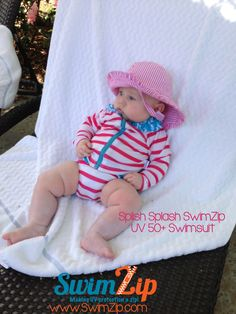 Look at this lil one rockin' her UV swim suit and hat! Adorable!!